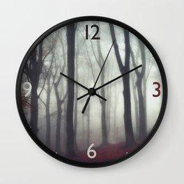 bonds - foggy forest scene Wall Clock