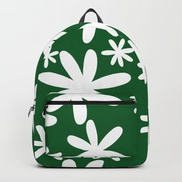 Tiare Flower Green Backpack