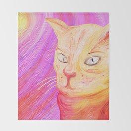 Aristocrat Cat  Throw Blanket