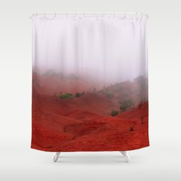 Red Land Shower Curtain