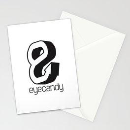 eyecandy hook - black Stationery Cards
