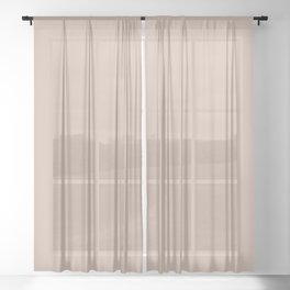 Pale Rose Pink Solid Color Pairs with Sherwin Williams Heart 2020 Forecast Color Likeable Sand SW605 Sheer Curtain