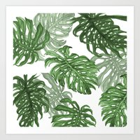 palms Art Prints featuring Monstera Deliciosa by Laura O'Connor
