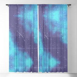 Way to the stars Sheer Curtain