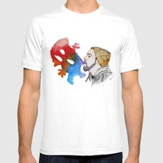 Strange Clouds MEDIUM Mens Fitted Tee White