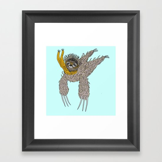 Impulsive Sloth Framed Art Print