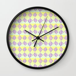 square abstraction-mutlicolor,abstraction,abstract,fun,rectangle,square,rectangled,geometric,geometr Wall Clock