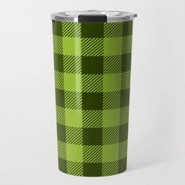 Buffalo Plaid: Green Travel Mug