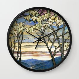Louis Comfort Tiffany - Decorative stained glass 5. Wall Clock