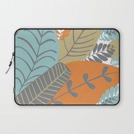Bright Tropical Leaf Retro Mid Century Modern Laptop Sleeve