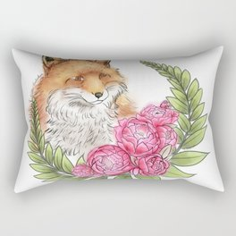 Fox in Bloom Rectangular Pillow