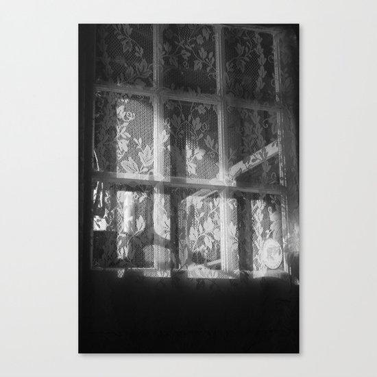 Lace window Canvas Print