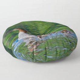 Merganser Duck Family Floor Pillow