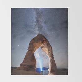 Milky Way Night sky in Moab Arches National Park Starry Night Pointer Utah USA for #Society6 Throw Blanket