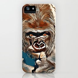 Thinking Gorilla iPhone Case
