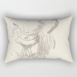 Rembrandt - Staande man met tas Rectangular Pillow