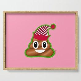Christmas Poop Emoji Serving Tray