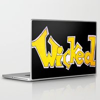 wicked Laptop & iPad Skins featuring Wicked by Mollybaggy