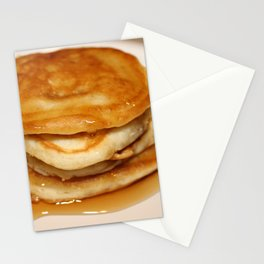 Pancakes with Syrup Stationery Cards