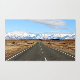 White Cap Journey Canvas Print