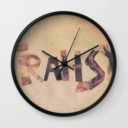 word  Wall Clock