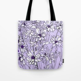 Chrysanthemum, violet version Tote Bag