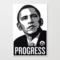 obama Canvas Prints featuring Obama by loveme