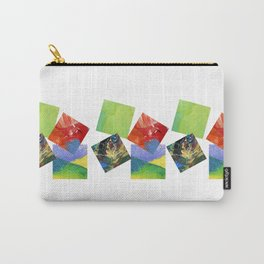 Painted Squares Jiggle Carry-All Pouch