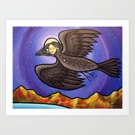 The Night I Was Healed I Flew To The Stars Art Print