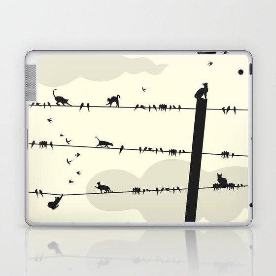 Cats and Birds Laptop & iPad Skin
