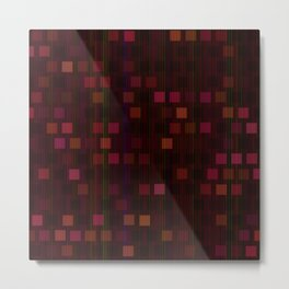 Red disco tiles Metal Print