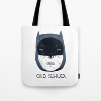 old school Tote Bags featuring old school by Louis Roskosch