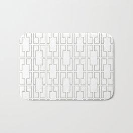 Simply Mid-Century Retro Gray on White Bath Mat