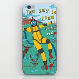 Skydive in the sky iPhone Skin