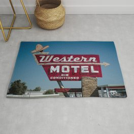 Western Motel on Route 66 Rug