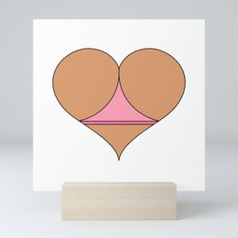 Butt Heart 4 Mini Art Print