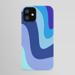 Retro Waves 1 (Blues) iPhone Case