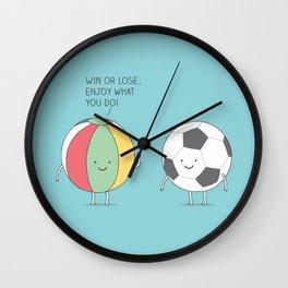 Encouraging ball Wall Clock