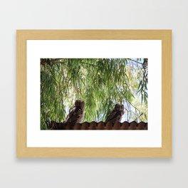 Two friends Framed Art Print