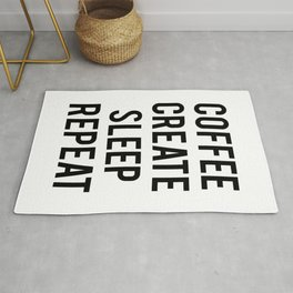 Coffee Create Sleep Repeat Gift Rug