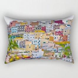 Edificios Colores Las Palmas Rectangular Pillow