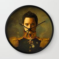 replaceface Wall Clocks featuring Elijah Wood - replaceface by replaceface