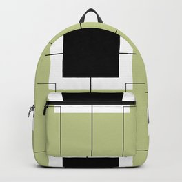 White Hairline Squares in Light Sand Backpack
