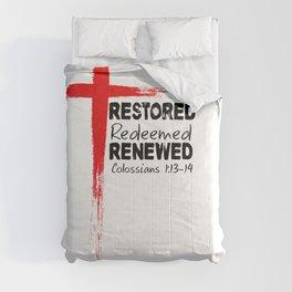 Christian Bible Verse Colossians 1:13-14 Cross Comforters