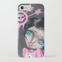 chicago bulls iPhone & iPod Cases featuring Bulls Eye by Lizzy Love