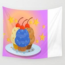 Shiny Cupcakes Wall Tapestry
