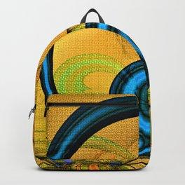 Golden Textured Circlet Backpack
