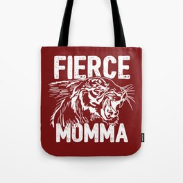 Fierce Momma / Red Tote Bag