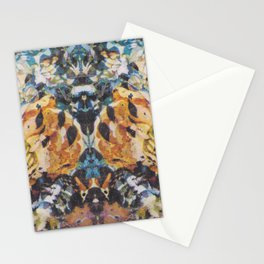 Rorschach Flowers 3 Stationery Cards