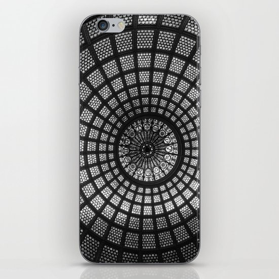 Tiffany Glass Dome Black/White Photography iPhone & iPod Skin